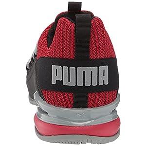 PUMA Men's Axelion Ridge Running Shoe, Ribbon Red Black-Quarry, 12
