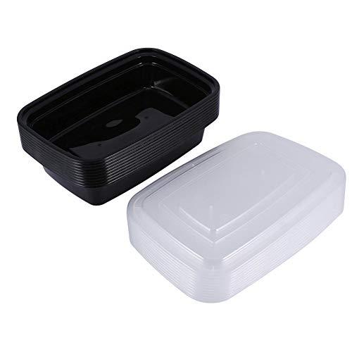 Contenedores de comida, 10 piezas 1000 ml de plástico reutilizable...