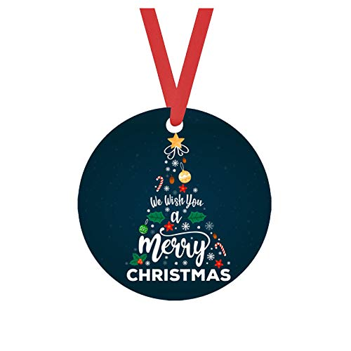 Fasclot Decoration & Hangs Christmas Wooden Christmas Tree Decoration Pendant Crafts Double Sided 2PC
