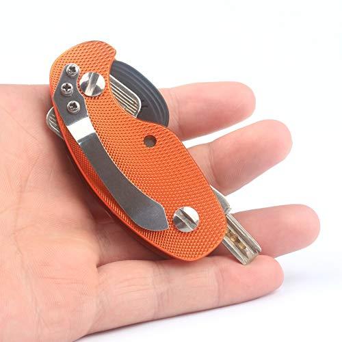 Unbekannt Aluminiumlegierung Schlüsselbund Flexible Kleine Schlüsselhalter Clip Reise Metall Organizer Taschenordner Tragbare Mini