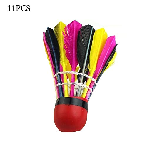 DONGKER 11PCS Badminton Shuttlecocks Training Badminton Balls Shuttlecocks Balls Goose Feather Badminton Shuttlecocks with Great Stability Durability for Indoor Outdoor Game