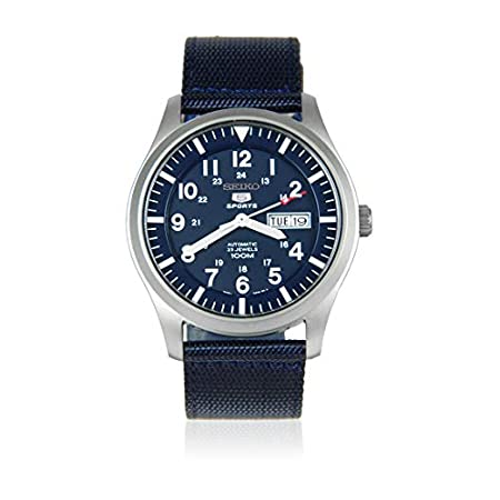 Fashion Shopping Seiko Men's Analogue Automatic Watch with Textile Strap SNZG11K1