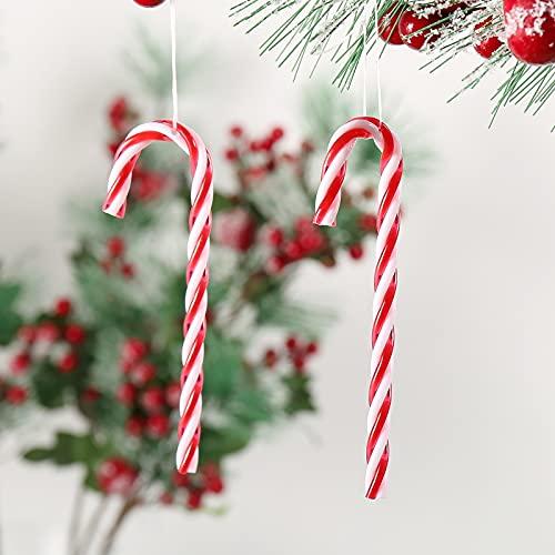 DAHI - 32 bastoncini di zucchero per albero di Natale, da appendere
