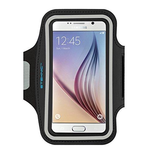 eTEKNIC Brazalete Deportivo para Samsung Galaxy s5, s6, s7, s6 Edge SoporteAjustable para Deporte Correr Ejercicio Fitness Funda Protectora