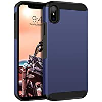 Guagua 2 in 1 Hybrid Hard Soft TPU Protective Case for iPhone Xs Max 6.5