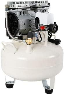 BTdahong - Compresor de aire silencioso con manómetro doble, 30 L, 680 W, sin aceite, 220 V, 50 dB