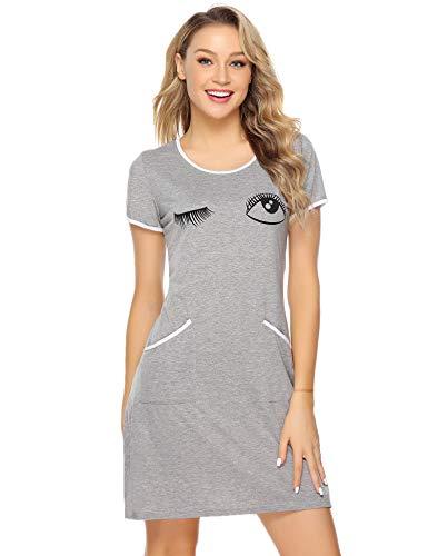 iClosam Especiales de Verano Camisón Mujer Gato Verano Pijama Casual