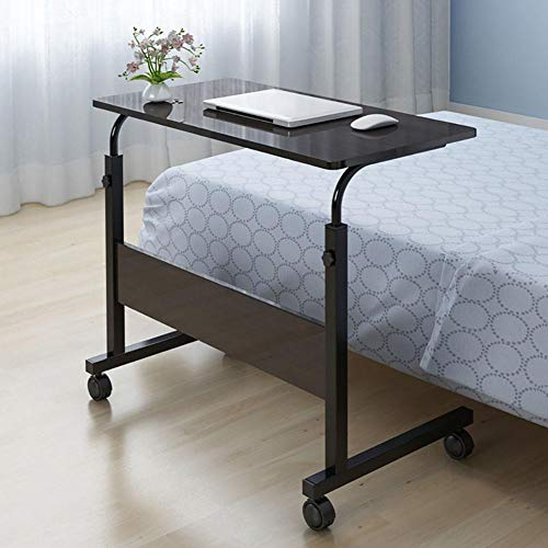 Cikonielf escritorio para ordenador portátil, altura ajustable, portátil, mesa de lectura lateral (nogal oscuro)