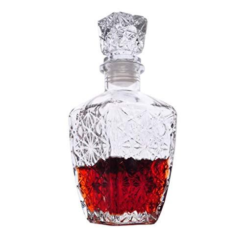 XYUN glazen karaf met glazen stop, voor sterke dranken, wijn, bourbon, brandy, alcohol, water, mondwater, cadeau X-Large