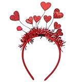 SOLUSTRE Diadema para El Día de San Valentín Diadema con Corazón de Amor Lentejuelas para Mujer Aro de Pelo para Decoración Del Día de San Valentín Accesorios para Fiestas