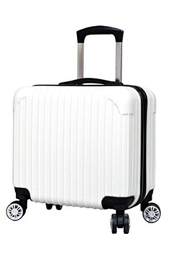 スーツケース 機内持ち込み [DJ002] 超軽量 16インチ 四輪 ABS キャリーケース (ホワイト)