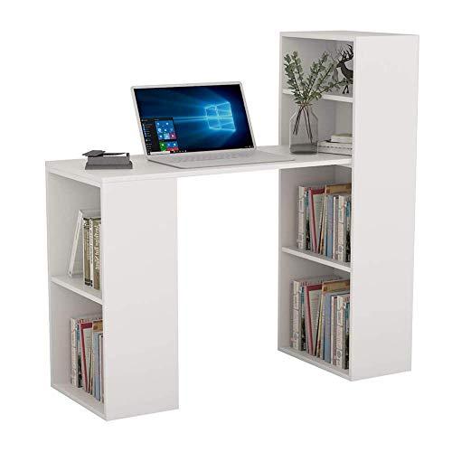 Equipo Escritorio de computadora Escritorio de Madera Mesa de computadora con estantes para el Trabajo en casa Escritorio de PC Estación de Trabajo Mesa de Estudio Escritorio de Escritura