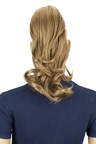 PRETTYSHOP 30cm Postiche Natte Queue De Cheval Extensions De Cheveux Volumineux Ondulé Blond Foncé H105