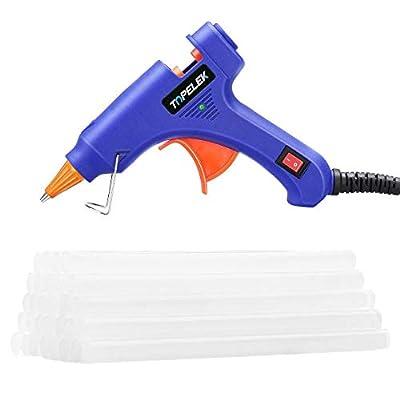 Hot Glue Gun, TOPELEK Mini Heating Hot Melt Glue Gun with 30pcs Melt Glue Sticks, Melting Glue Gun Set for School DIY Arts and Crafts Projects, Home Quick Repairs