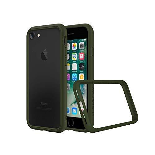 RhinoShield Bumper Case kompatibel mit [iPhone SE2 / SE (2020) / 8/7] | CrashGuard NX - Schockabsorbierende Dünne Schutzhülle 3.5 Meter Fallschutz - Camo Grün