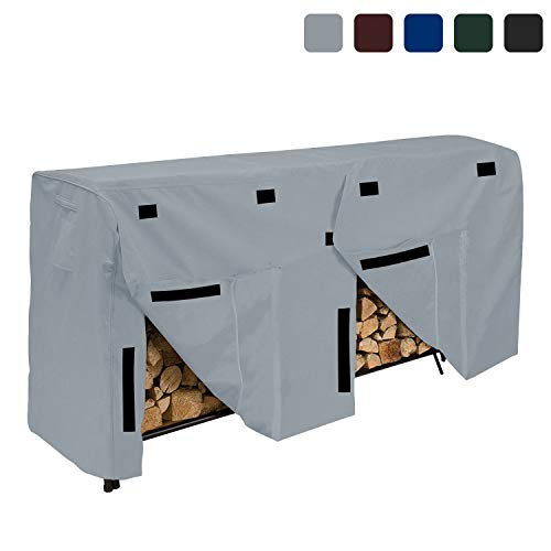Buy Bargain Log/Wood Rack Cover 18 Oz Waterproof - Wood Rack Cover with 100% UV & Weather Resistant ...