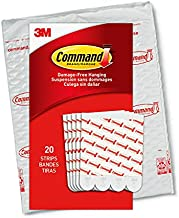 Command Large Refill Replacement Strips for Indoor Hooks, White, 20-Strips - Easy to Open Packaging
