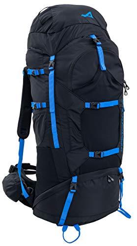 ALPS Mountaineering Caldera Internal Frame Backpack 90L, Black/Blue