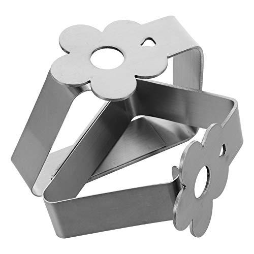 Gadpiparty 2 Pinzas para Mantel de Flores Pinzas para Mesa de Picnic Abrazaderas Flexibles de Acero Inoxidable para Cubiertas de Mantel Soportes para Manteles Ideales para Picnics Carpas