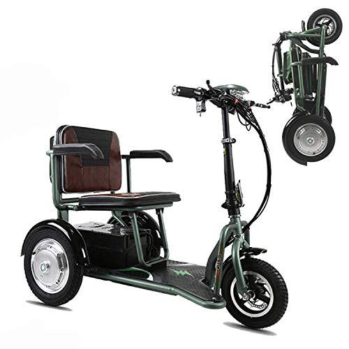 SZ-DDC 3 Räder Mobilität Motorroller für Erwachsene Folding Elektro-Scooter für städtische Freizeit-Grün