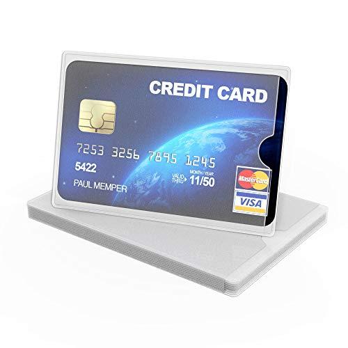 kwmobile 10x Funda protectora de TPU para tarjetas crédito y débito - Cubiertas protectoras para tarjeta - Tarjetero transparente mate