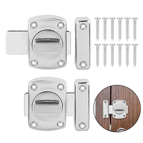 2 Stück Türriegel, Drehriegel , Türriegel/Badezimmerriegel,Diebstahlschutz Lock auf verschiedene Türen
