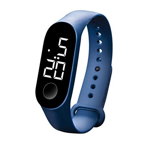 herrenuhren männer Herrenuhr mit Datum Funktion herren Mode Digital LED Sportuhr Unisex Silikonband Armbanduhren Männer Frauen Armbanduhr Uhren Armbanduhren Herrenarmbanduh schwarz(C)