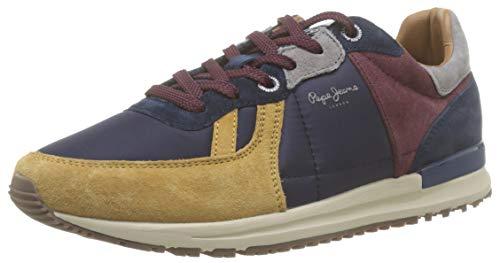Pepe Jeans London Tinker Pro 19, Zapatillas para Hombre, Cognac 879, 41 EU