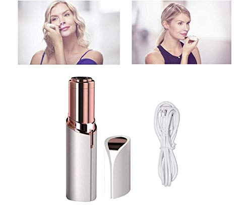 Sin Defectos De La Mujer Indolora Facial Remover, Depiladora Recargable USB, Indolora Depiladora Segura, Forma De Lápiz Labial Impermeable, Depiladora Facial Señoras, Maquinilla De Afeitar