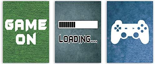 KAIRNE 3er Set Gaming Poster   Bilder für Gamer   Videospiel Wandbild   Game Leinwand Wandkunst für Jungen Teenager Schlafzimmer Spielzimmer Kinderzimmer Geschenk Dekor(12