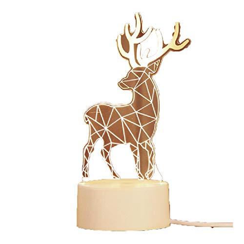 Creative gift nachtkastje lamp 3D nachtlampje LED bedlampje decoratie plug-in kleine tafellamp verjaardagscadeau hert vormig USB,deer