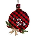 Bageek Cartel de corona de Navidad con diseño de cono de pino artificial para decoración de puerta, diseño de cuadros