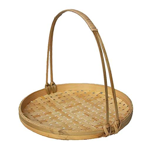 QULONG Handmade Bamboo Baskets, Hand Baskets, Bamboo Products, Dustpan Trays, Bamboo Baskets For Farmers' Snacks, Bamboo Baskets With Handles