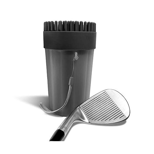 Golf Cart Club Cleaner │ 6″ x 3.75″ │ Golf Club Brush │ Portable...