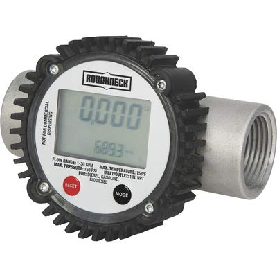 Roughneck Digital Fuel Meter - Inlet 1-30 1in. GPM San Diego Mall Austin Mall Outlet