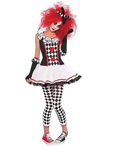 LaLaAreal, Harlekin-Kostüm für Erwachsene mit Hose für Halloween und Karneval
