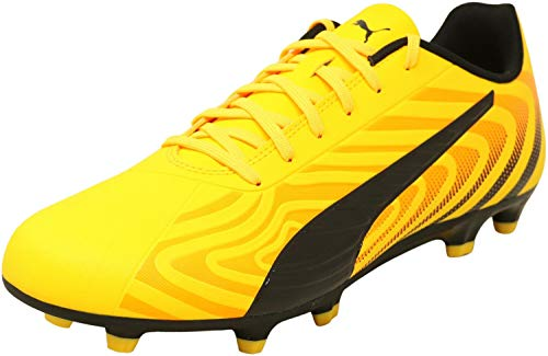 PUMA Men's One 20.4 Firm Artificial Ground Sneaker, Ultra Yellowpuma Blackorange Alert, 9.5 M US