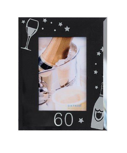 Sixtrees 3-500-60 4 x 6 Pollici Occasione Photo Frame Vetro di Champagne età Collezione Sixtrees Occasioni 60 Champagne, Nero
