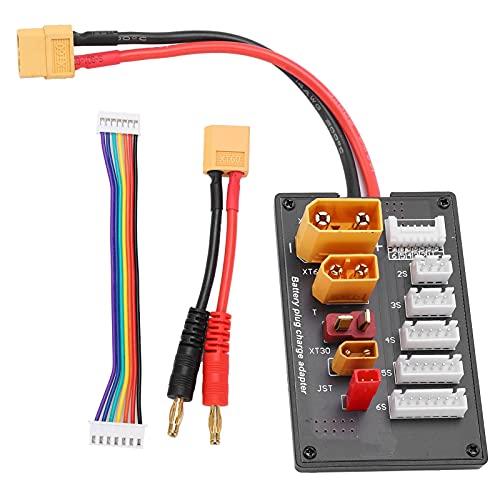 Placa De Carga Paralela XT60 Lipo para Cargador De Batería Lipo 2S-6S Adaptador De Carga Equilibrado Paralelo con Cable De Conexión XT60 A Banana Compatible con IMAX B6 / B6AC IDST