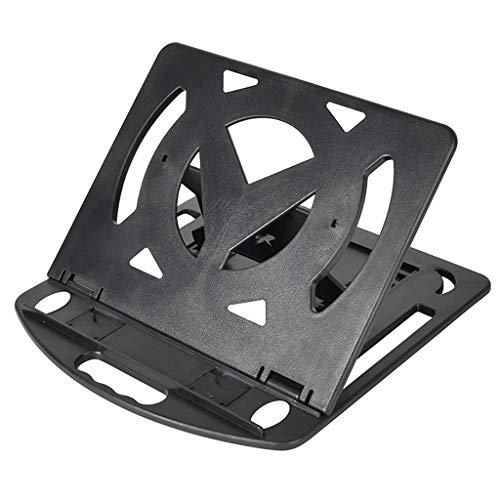ZJY Laptop Bracket Cervical Spine Desktop Office Computer Lifting Portable Heat Dissipation Shelf Height Pad Folding Type (Color : Black)
