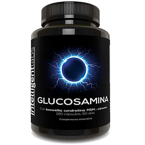 Intelligent Labs Glucosamina de 1500 mg con Triple Fuerza, con MSM, Condroitina, Cúrcuma, Boswellia y Quercetina, 180 Cápsulas