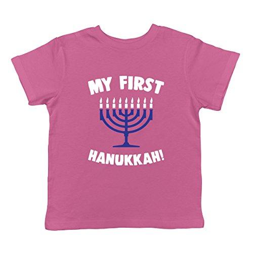 SpiritForged Apparel My First Hanukkah Infant T-Shirt, Pink 18 Months