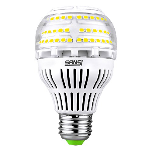 (Upgrade) 17W (150-200 Watt Equivalent) A19 Dimmable LED Light Bulb, 2500 Lumens Bright Led Bulbs, 5000K Daylight Ceramic Light, E26 Medium Screw Base, 5-Year Warranty, SANSI