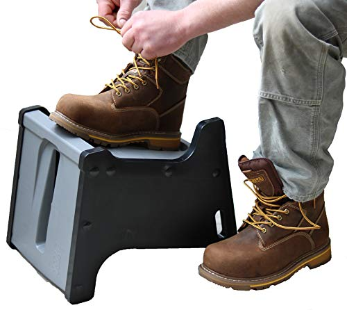 Get Active with LaceUP. Practice Good Ergonomics .Sock Aid & Helps Elderly, Kids, Pregnant Women, Athletes & People with Limited Mobility. Non-Slip Shoe Block with 2 Sitting and Standing Heights.