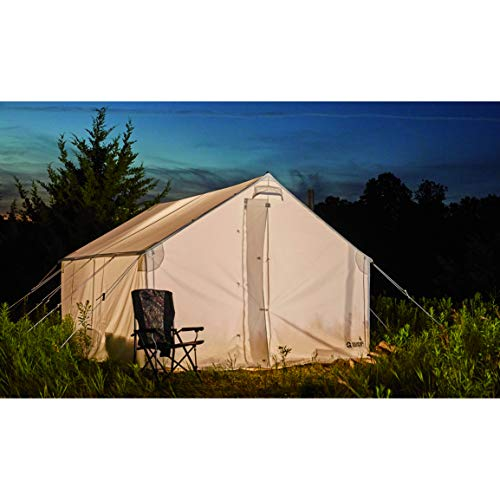 Guide Gear 10x12' Canvas Wall Tent for Hunting, Outdoor Camping, Waterproof 4 Season Tents (Frame Not Included)