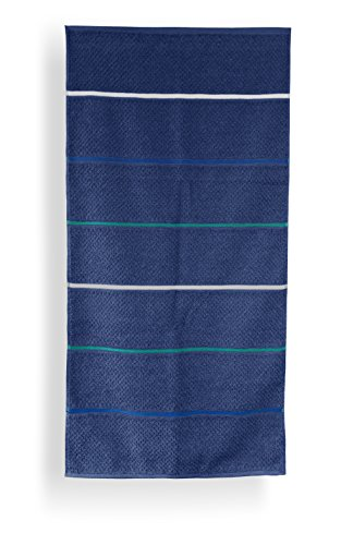 Santens SC00234200 Grana Serviette de Toilette Coton Marine 50 x 100 cm