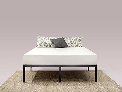 Esta cama de plataforma clásica de acero de 35,6cm te proporciona un soporte sólido para tu colchón viscoelástico, de látex o de muelles. La cama de plataforma Yelena de tiene 35,6cm de altura y te ofrece un amplio espacio de almacenamiento en su p...