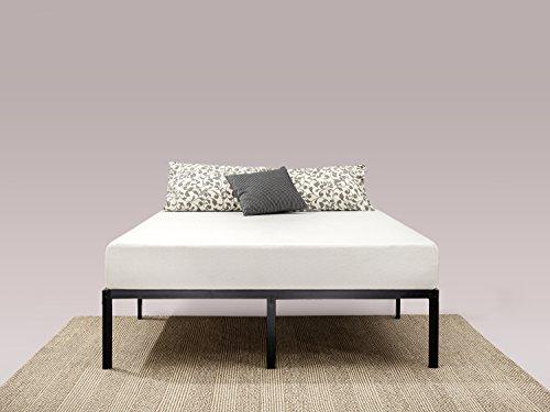 Zinus Yelena 35,6CM Letto struttura con piano classico in metallo con supporto a doghe in acciaio/ Base del materasso/ Non sono necessarie le molle/ Bed in a box/ Montaggio facile/ 140 x 190 cm
