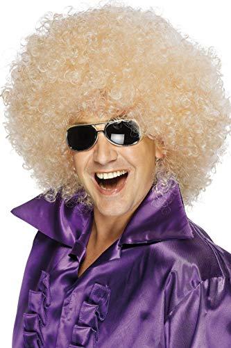 Smiffys mens Afro Wig, Mega-huge Costume Wig, Blonde, One Size US