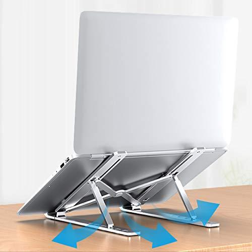 YOOKEA Laptop Ständer Höhenverstellbar, Laptop-Halterung Faltbare, Notebook Ständer Kompatibel für MacBook Pro/Air Lenovo Samsung HP, 8-17 Zoll, Silber